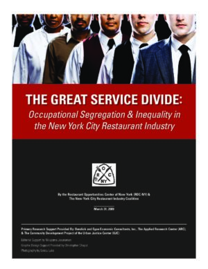 The Great Service Divide: Occupational Segregation & Inequality in the New York City Restaurant Industry,