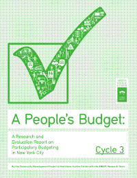 A People's Budget: A Research and Evaluation Report on Participatory Budgeting in New York City, Year 3