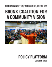 Bronx Coalition for a Community Vision: Policy Platform