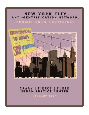 NYC Anti-Gentrification Network: Summation of Convenings