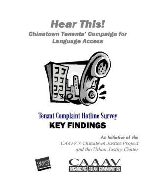 Chinatown Tenants' Complaints for Language Access
