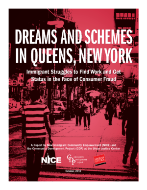Dreams and Schemes in Queens, New York: Immigrant Struggles to Find Work and Get Status in the Face of Consumer Fraud