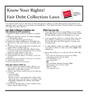 Fair Debt Collection Laws