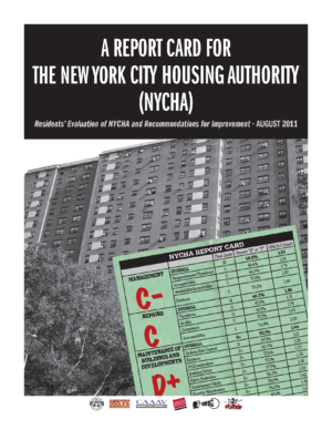 A Report Card for The New York City Housing Authority (NYCHA) – Residents' Evaluation of NYCHA and Recommendations for Improvement