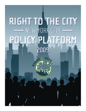 Right to the City Policy Platform 2009