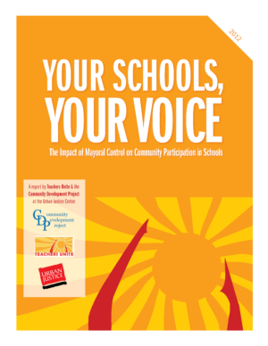 Your Schools, Your Voice: The Impact of Mayoral Control on Community Participation in Schools