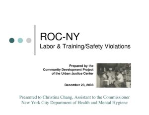 Correlation of Labor and Training/Safety Violations in NYC Restaurants