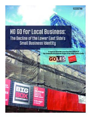 NO GO for Local Businesses