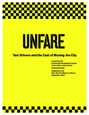 Unfare: Taxi Drivers and the Cost of Moving the City