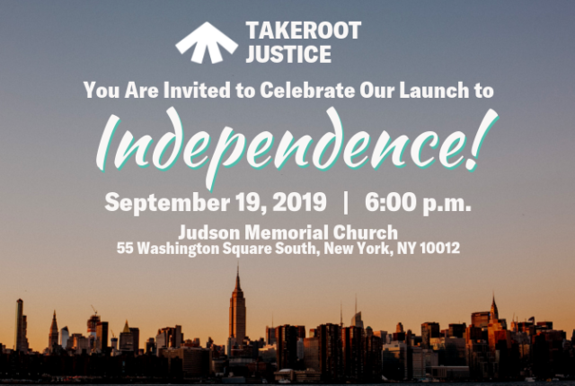 invitation to Sept 2019 launch event